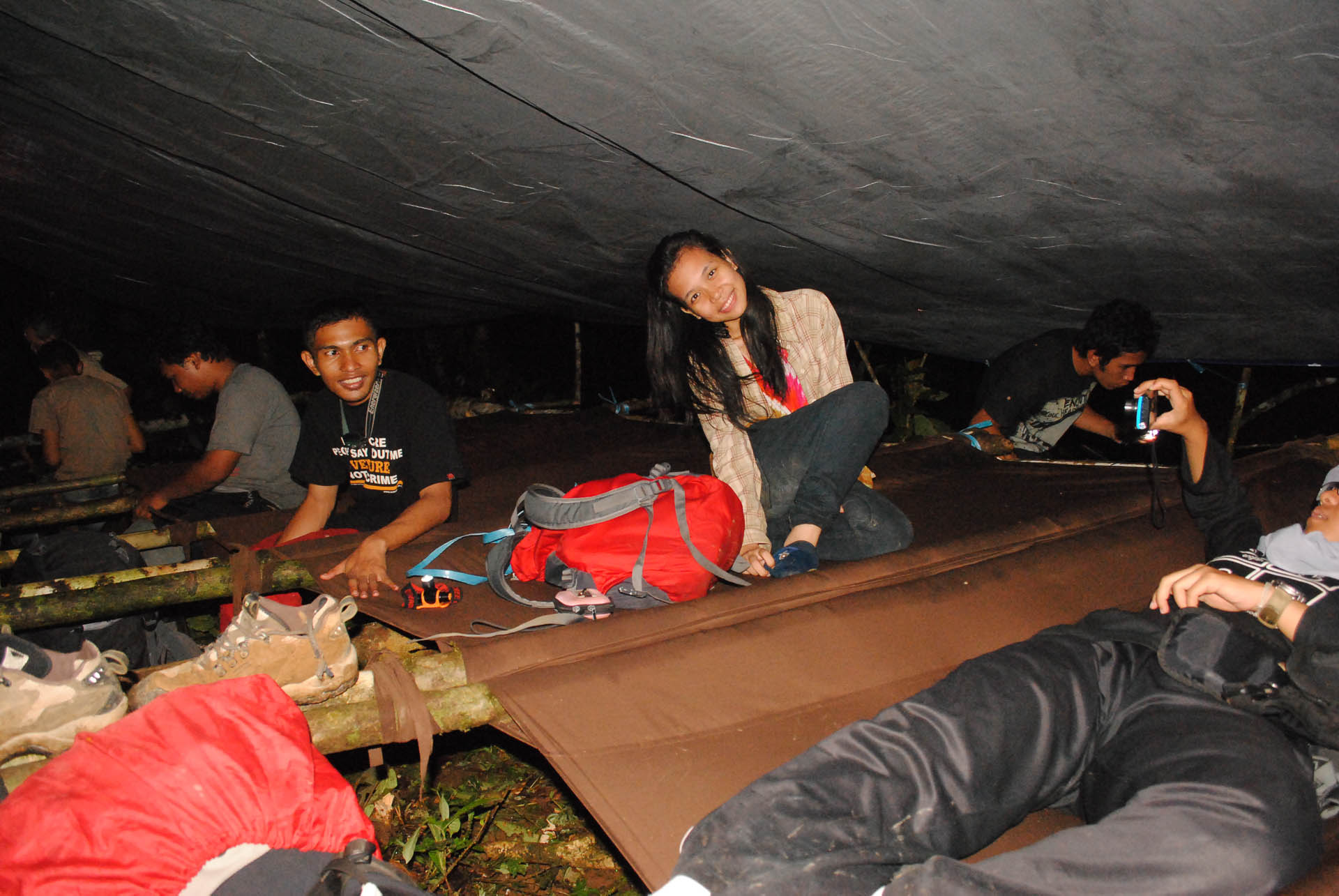 Night under Tarp